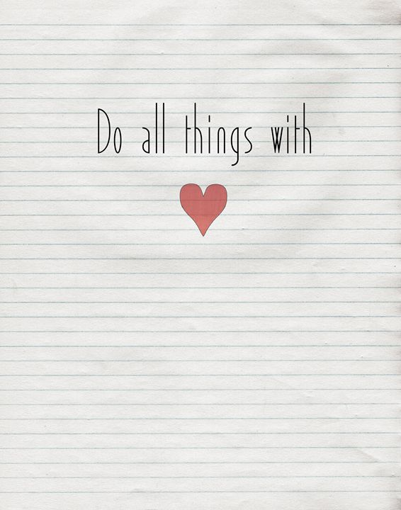 Do all things with love - Wall Vibes
