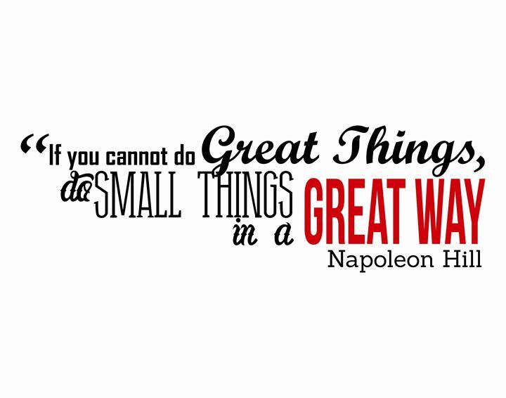 Napoleon Hill Great way - Wall Vibes