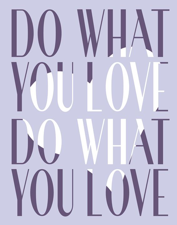 Do what you love - Wall Vibes