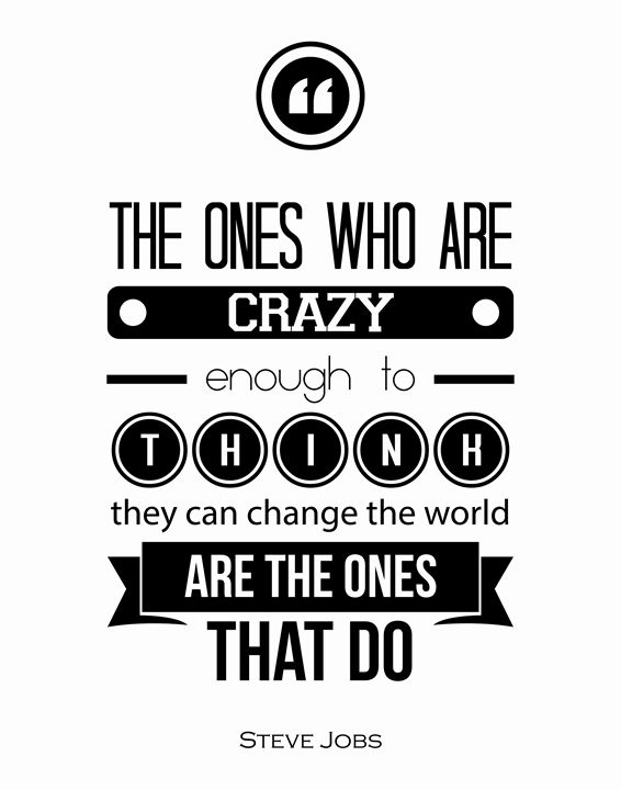 Steve Jobs The ones who are crazy - Wall Vibes