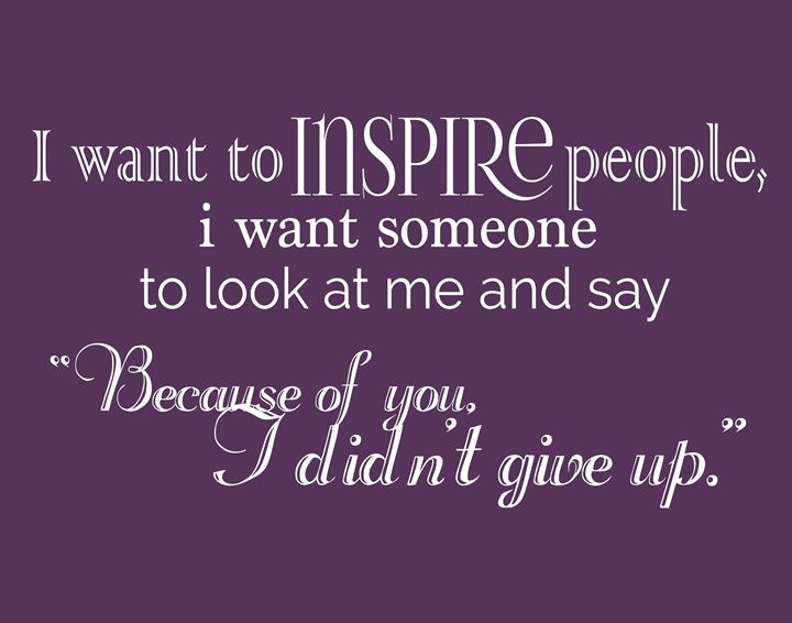 I want to inspire people - Wall Vibes