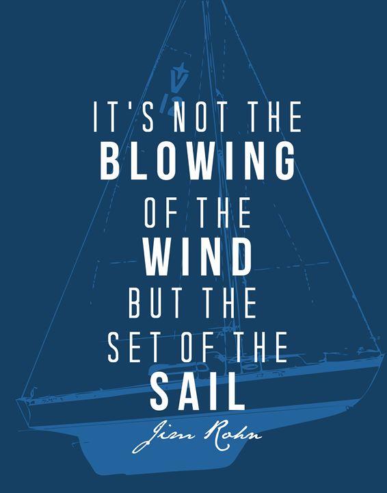 Jim Rohn Set of the sail - Wall Vibes
