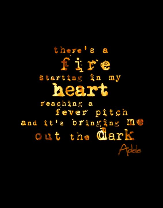Adele There is a fire - Wall Vibes