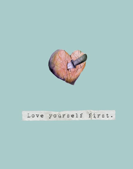 Love yourself first - Wall Vibes