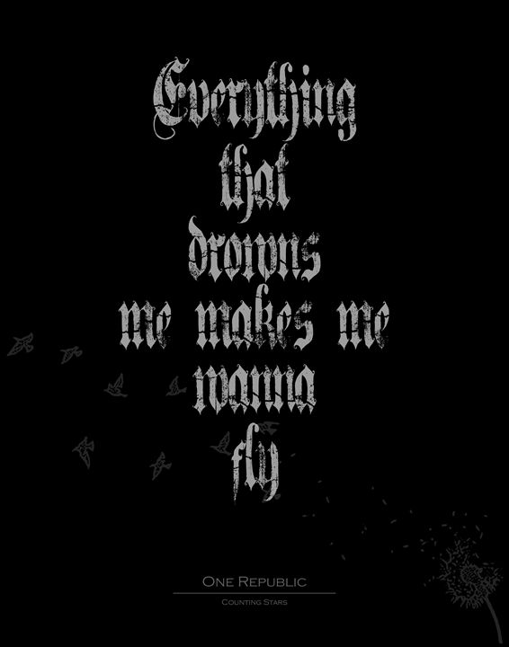 One republic Everything that drowns - Wall Vibes