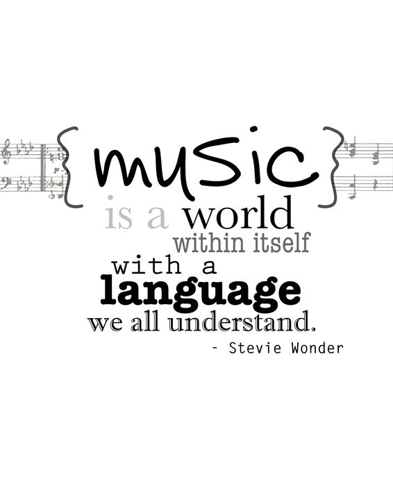 Stevie Wonder Music is a world - Wall Vibes