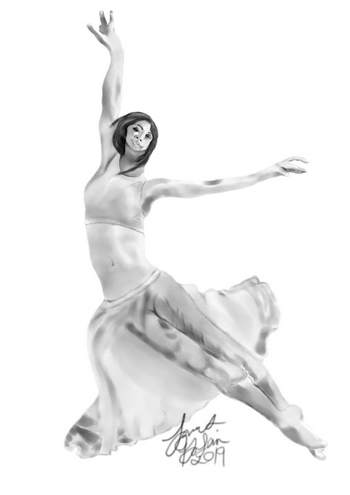 ballerina digital pencil - James DaSilva