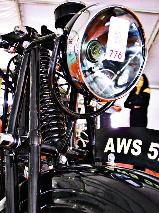 AWS 5 vintage motorcycle front view - Felix Padrosa