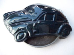 Dark Green VW beetle belt buckle