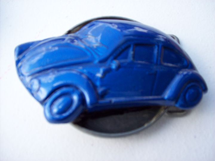 Blue VW Beetle Belt Buckle - Watts Kreations