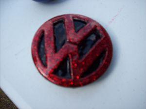 Red Flake VW Emblem Belt Buckle