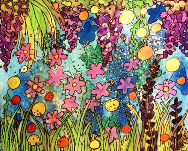 Scattered Flowers - Anna Savage Fine Art