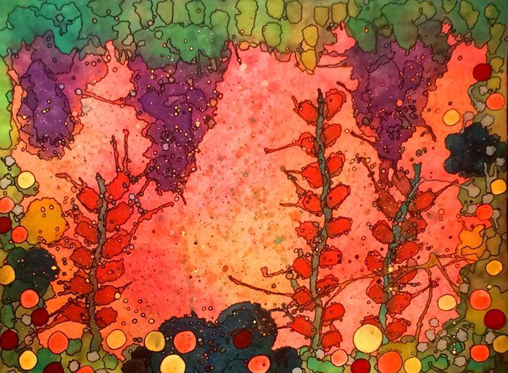 Her Garden at Twilight - Anna Savage Fine Art