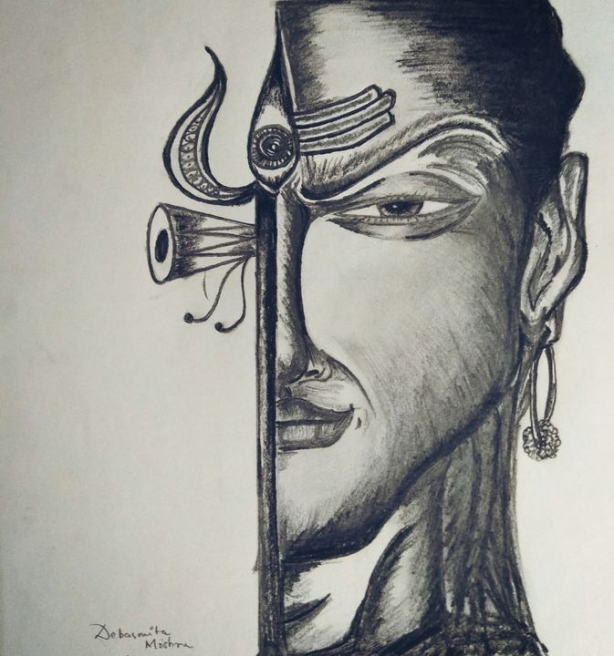Lord Shiva Sketch Dmarts Drawings Illustration Religion