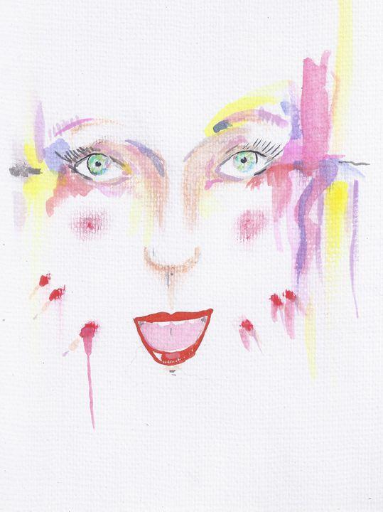 Lady Q - jason mixed media art