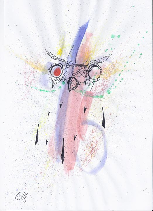 owl - jason mixed media art