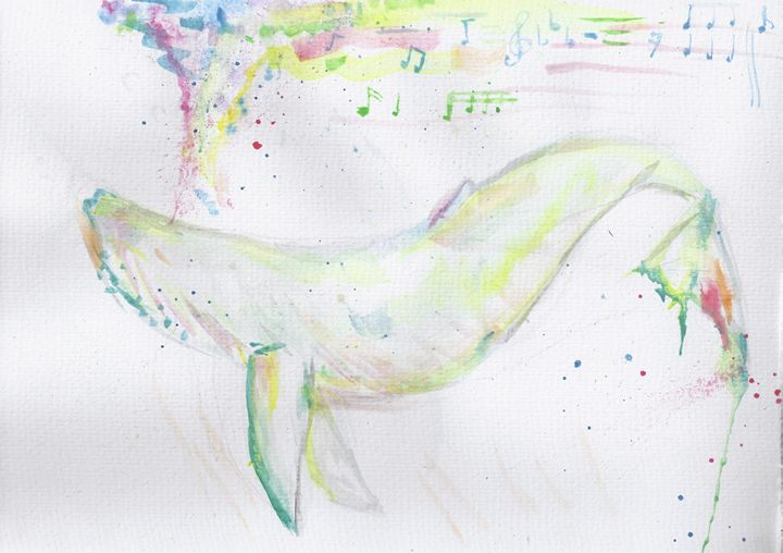 whale song - jason mixed media art