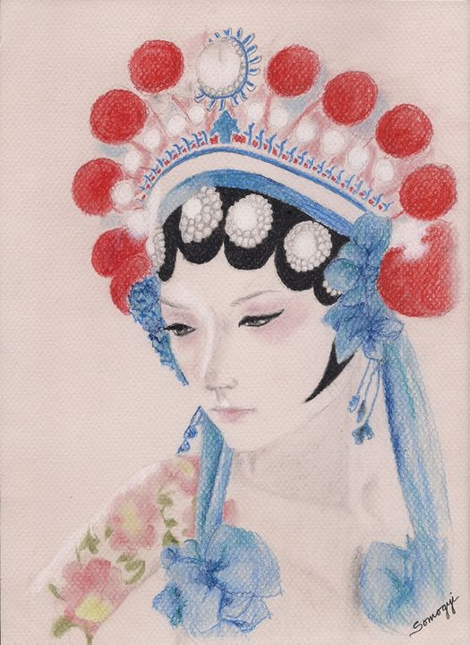 Woman from Chinese Opera with Tattoo - Somogyi