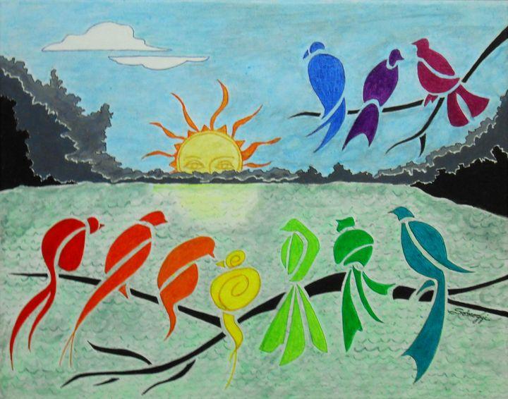 Rainbow Birds Sunrise - Somogyi