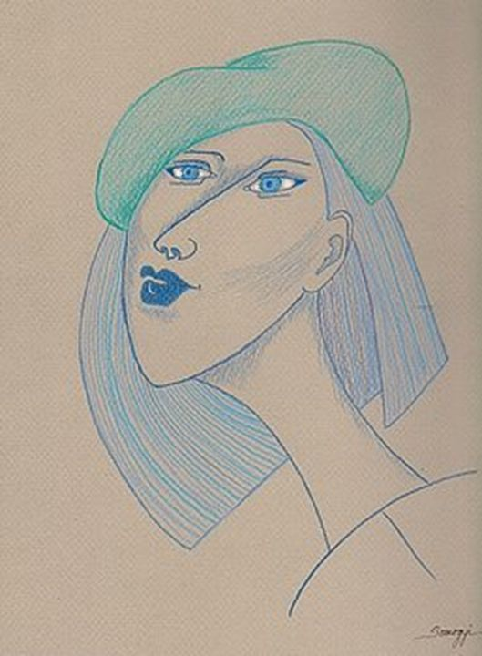 Girl in Blue Beret - Somogyi