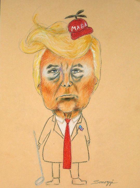 Orange Face, Red Hat - Somogyi