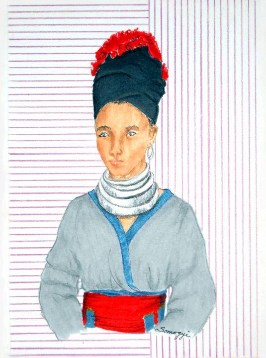Hmong Woman in 1960 - Somogyi