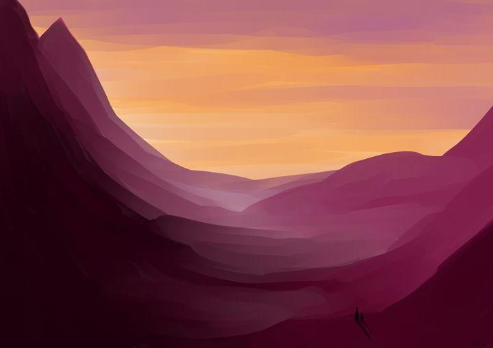 Sunset Mountains - Gaze Universe