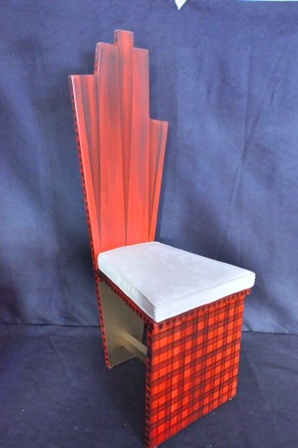 Hand painted Rosso Chair - Design by RK