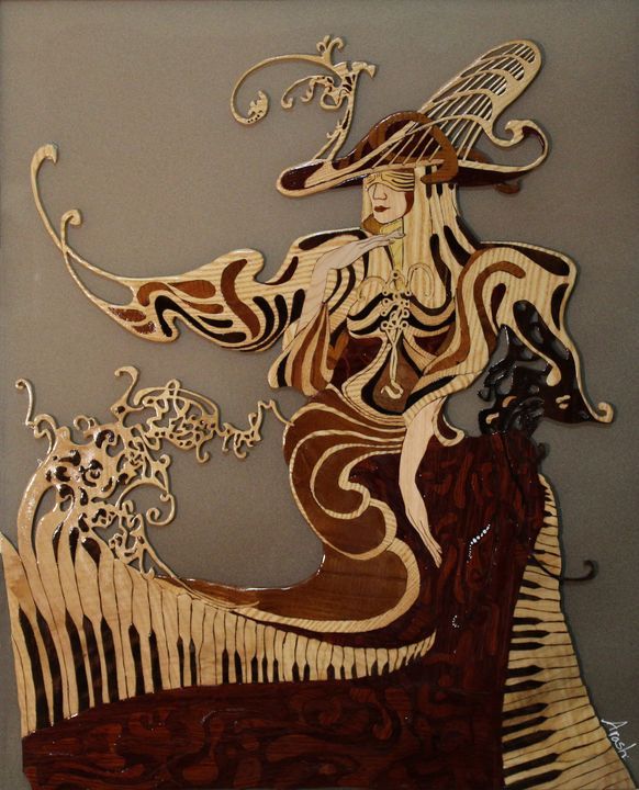 Captivated - Drawing and Marquetry by Arash