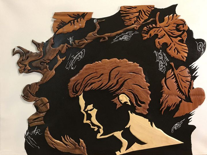 Autumn - Drawing and Marquetry by Arash