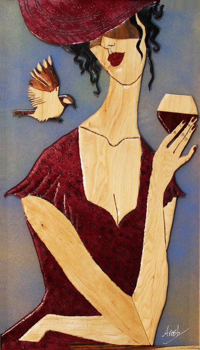 Living in moment - Drawing and Marquetry by Arash