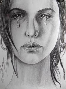 Sad Crying Woman