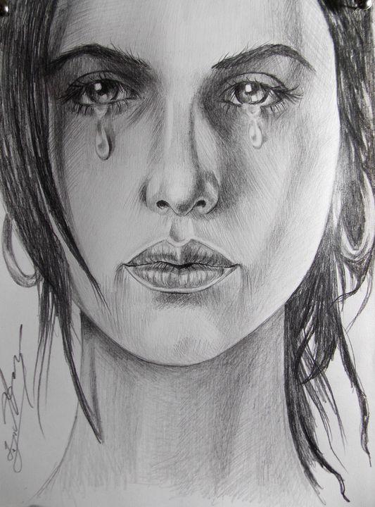 Sad Crying Woman - Daviti Asatiani