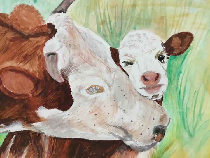 Cow and calf - Paul Allen