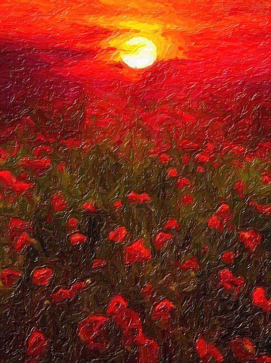 Red Sunset - Creatiive Art