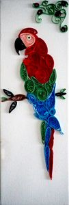 Paper Quilling of a Macaw