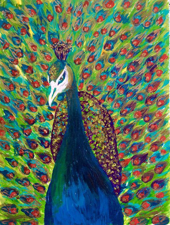 Vibrant Peacock - Creatiive Art