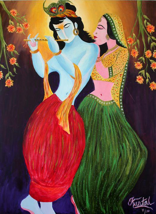 Radha Krishna - Creatiive Art