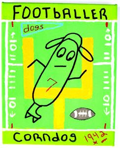 Footballer Corn Dog