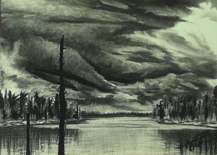 Woods Lake Charcoal - Aaroncesh Art