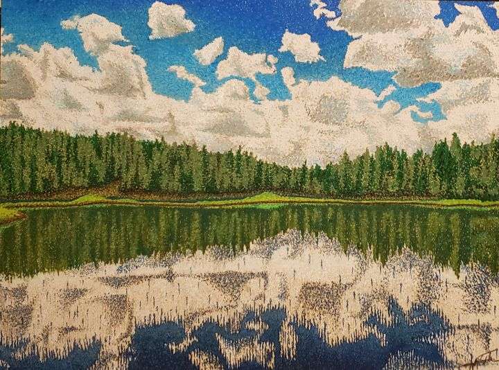 Woodland Lake Shore - Aaroncesh Art