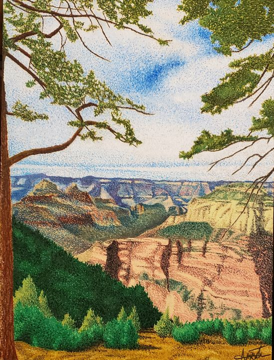 Mary's View From the North Rim - Aaroncesh Art