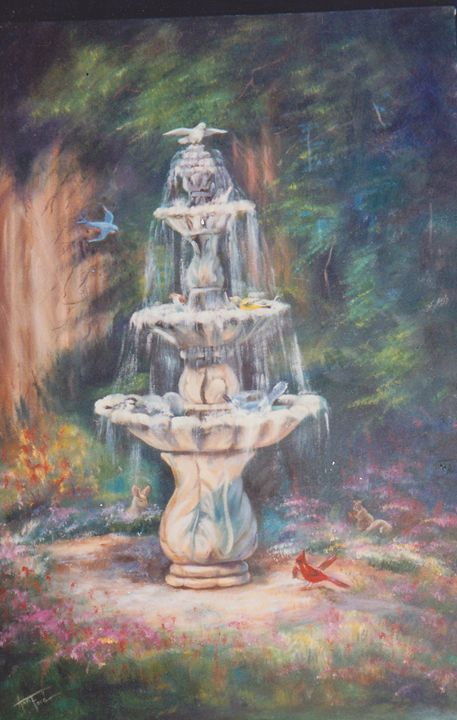 Mary Ann's Fountain - Ann Ford Fine Art