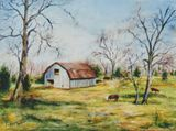 Tennessee farm scene with cows.