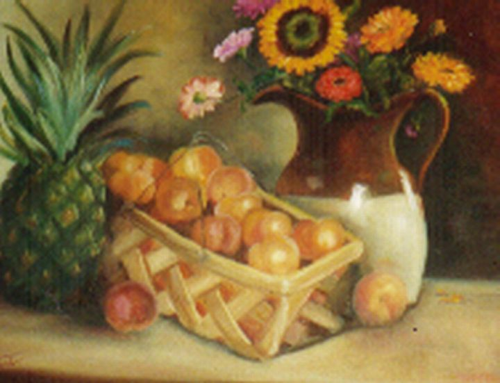 August Peaches - Ann Ford Fine Art