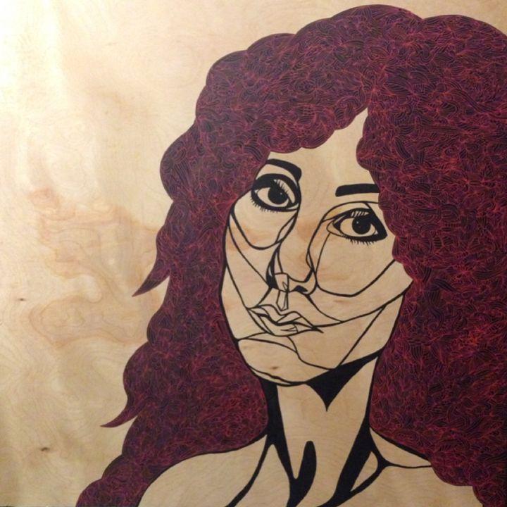 Dark Lady Cher Portrait - Ivy Mosier Artworks