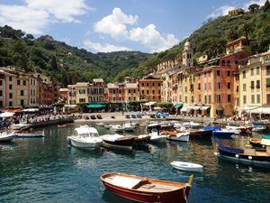 Row Boat in Portofino Harbor