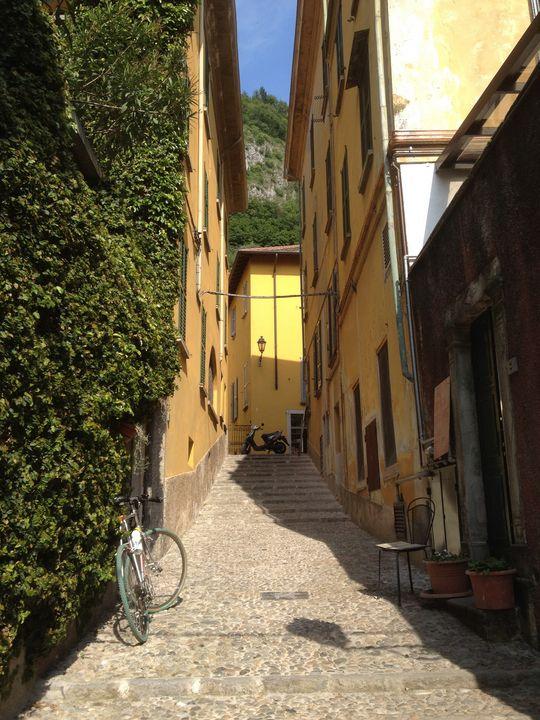Narrow Walking Path - Varenna Italy - Rebecca K. Williams
