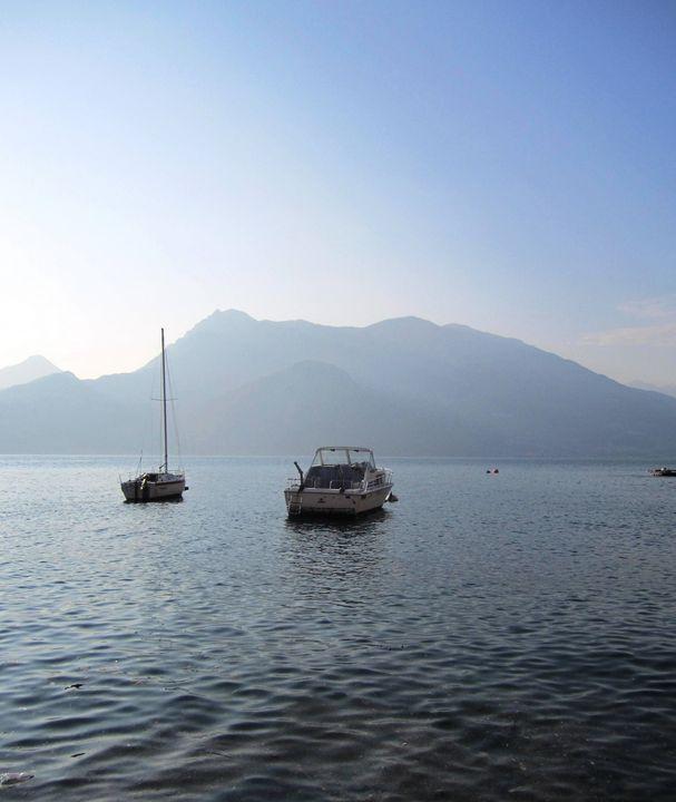 Boats on Lake Como Italy - Rebecca K. Williams