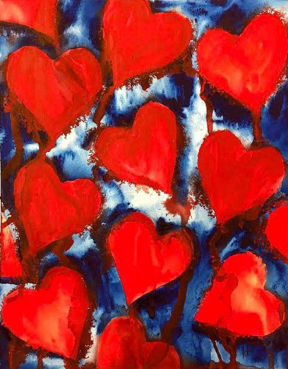 Bleeding Hearts - Nancy Riedell Fine Arts